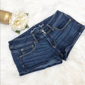 American Eagle Denim Flap Pocket Shorts Sz 6 ::Q10